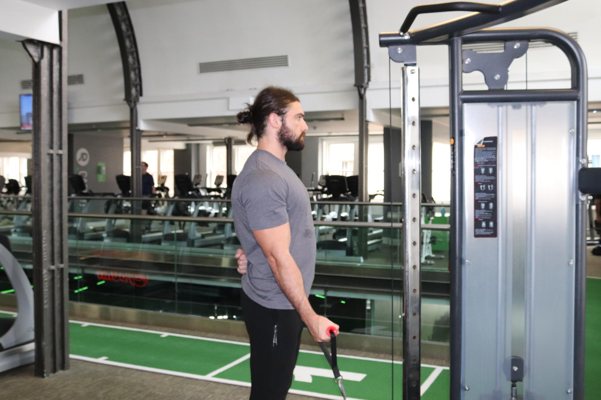 single arm cable bicep curl
