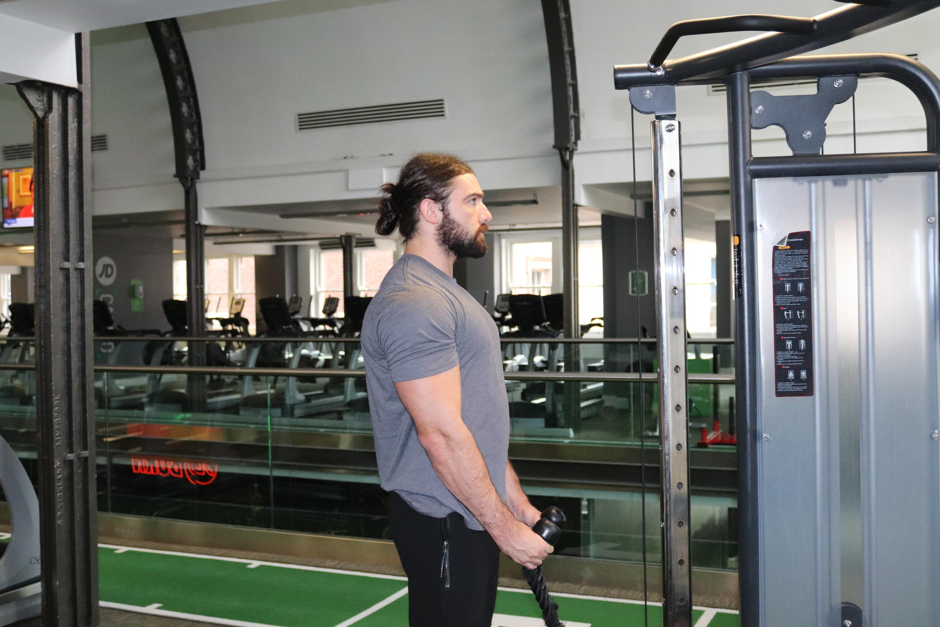double bicep cable curl image